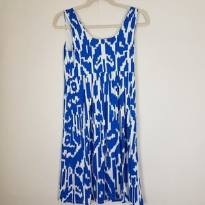 Ann Taylor Dresses - Ann taylor blue and white designed dress size Sp